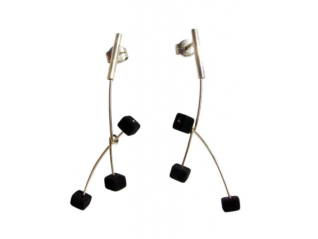 ASPA-LAVA, STERLING SILVER EARRING. Original Handcrafted Jewel - VOPASPALA02 - Original Version