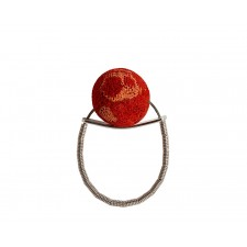 ONDA-CORAL, STERLING SILVER RING. Original Handcrafted Jewel - VOAONDACRL01 - Original Version