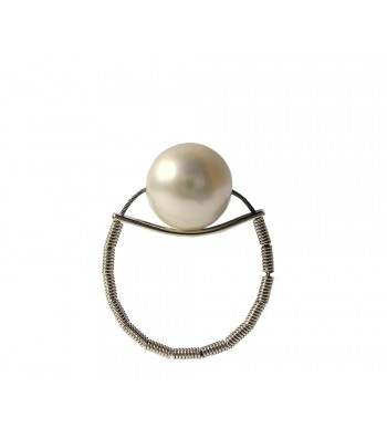 ONDA-PERLA, STERLING SILVER RING. Original Handcrafted Jewel - VOAONDAPER01 - Original Version