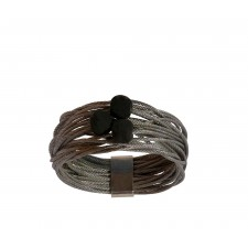 TELAR2-LAVA, STAINLESS STEEL RING. Original Handcrafted Jewel - VOATELAR2LA03 - Original Version