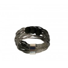 TELAR2-LAVA, STAINLESS STEEL RING. Original Handcrafted Jewel - VOATELAR2LA02 - Original Version