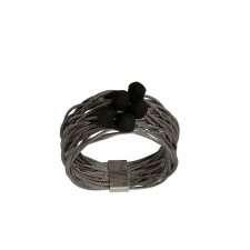TELAR2-LAVA, STAINLESS STEEL RING. Original Handcrafted Jewel - VOATELAR2LA01 - Original Version