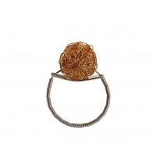 ONDA-BALL, STERLING SILVER RING. Original Handcrafted Jewel - VOAONDABALL01GP - Original Version