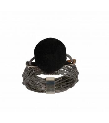 ONDA-LAVA, STAINLESS STEEL HANDMADE RING. Original Handcrafted Jewel - VOAONDALAO2M - Original Version
