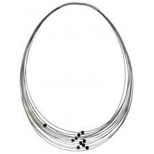 TELAR1-LAVA, STAINLESS STEEL 13-STRAND NECKLACE. Original Handcrafted Jewel - VOCTELAR1LA01 - Original Version