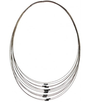 TELAR1-TUBO, STAINLESS STEEL 13-STRAND NECKLACE. Original Handcrafted Jewel - VOCTELAR1TB01 - Original Version