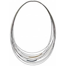 TELAR1-TUBO, STAINLESS STEEL 13-STRAND NECKLACE. Original Handcrafted Jewel - VOCTELAR1TB02 - Original Version