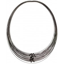 TELAR2-LAVA, STAINLESS STEEL 38-STRAND NECKLACE. Original Handcrafted Jewel - VOCTELAR2LA01 - Original Version