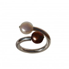 CHOC-PERLA, STERLING SILVER RING. Original Handcrafted Jewel -VOACHOC03 -Version Original