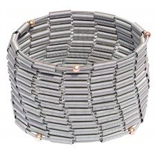 MOLL, STAINLESS STEEL ELASTIC BRACELET. Original Handcrafted Jewel - VOBMOLL02 - Original Version1