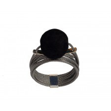 ONDA-LAVA, STAINLESS STEEL RING. Original Handcrafted Jewel - VOAONDALA02 - Original Version
