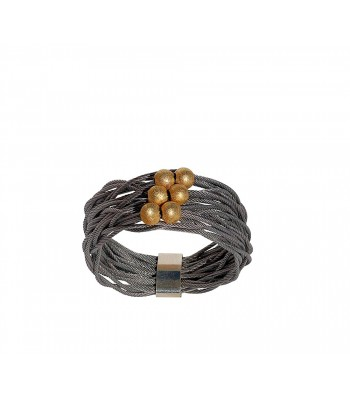 TELAR2-BOLA, STAINLESS STEEL RING. Original Handcrafted Jewel - VOATELAR2BL01GP - Original Version