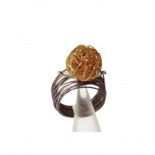 ONDA- BALL, STAINLESS STEEL RING. Original Handcrafted Jewel - VOAONDABALL02GP - Original Version
