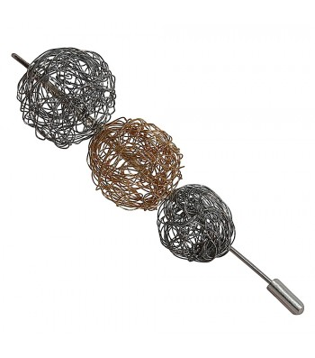 BALL, STAINLESS STEEL NEEDLE. Original Handcrafted Jewel - VOAGBALL01GP - Original Version