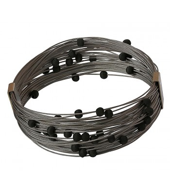 TELAR2-LAVA, STAINLESS STEEL BRACELET. Original Handcrafted Jewel - VOBTELAR2LA01 - Original Version