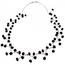 ASPA-LAVA, STERLING SILVER NECKLACE. Original Handcrafted Jewel - VOCASPALA02 - Original Version
