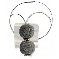 BOLA DE GRANITO, GRANITE BALL PENDANT-NECKLACE. Original Handcrafted Jewel - VOCBLGR01 - Original Version