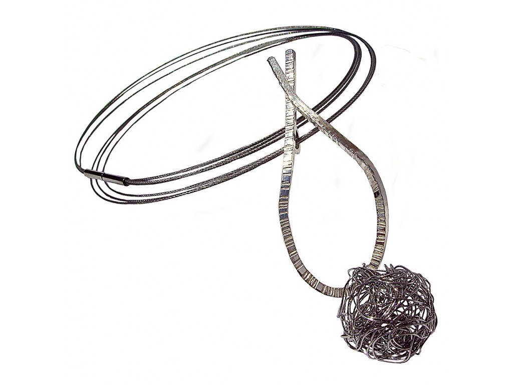 LAZO-BALL, STERLING SILVER PENDANT. Original Handcrafted Jewel - VOCLAZBALL01 - Original Version