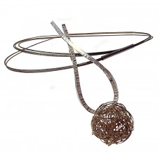 LAZO-BALL, STERLING SILVER PENDANT. Original Handcrafted Jewel - VOCLAZBALL01GP - Original Version