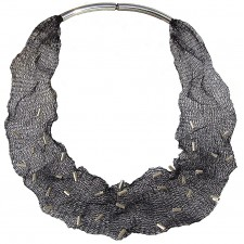 MESH-TUBE, TUBULAR NECKLACE. Original Handcrafted Jewel - VOCMESHBTB01A - Original Version