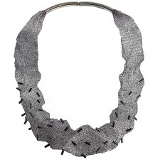 MESH-TUBE, TUBULAR NECKLACE. Original Handcrafted Jewel - VOCMESHTITB01OX - Original Version