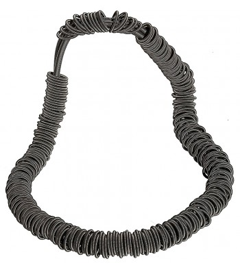 MOLL, STAINLESS STEEL ELASTIC NECKLACE. Original Handcrafted Jewel - VOCMOLL01 - Original Version
