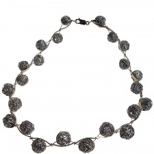 ONDA-BALL, STERLING SILVER NECKLACE. Original Handcrafted Jewel - VOCONDABALL02 - Original Version