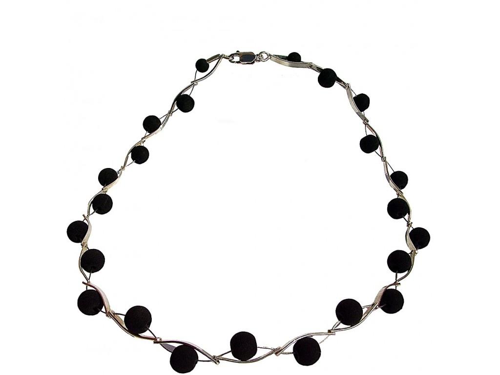 ONDA-LAVA, STERLING SILVER NECKLACE. Original Handcrafted Jewel - VOCONDALA02 - Original Version