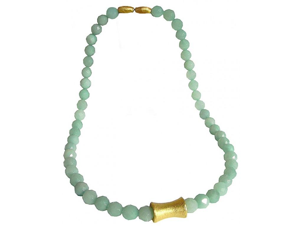 PIEDRA-AMAZONITE, STERLING SILVER NECKLACE. Original Handcrafted Jewel - VOCPDAMZ01GP - Original Version