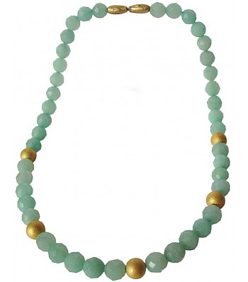 PIEDRA-AMAZONITE, STERLING SILVER NECKLACE. Original Handcrafted Jewel - VOCPDAMZ02GP - Original Version