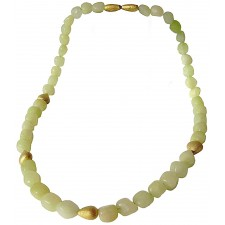 PIEDRA-JADE, STERLING SILVER NECKLACE. Original Handcrafted Jewel - VOCPDJD01GP - Original Version