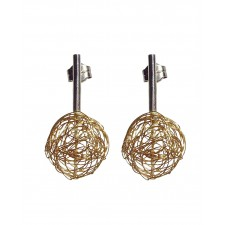 BALL, STERLING SILVER EARRING. Original Handcrafted Jewel - VOPBALL1101AGP - Original Version