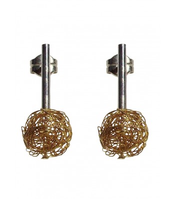 BALL, STERLING SILVER EARRING. Original Handcrafted Jewel - VOPBALL1101GP - Original Version