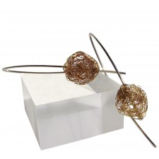 BALL, STERLING SILVER EARRING. Original Handcrafted Jewel - VOPBALL1103AGP - Original Version