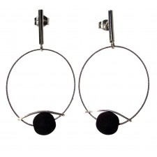 ONDA-LAVA, STERLING SILVER EARRING. Original Handcrafted Jewel - VOPONDALA02 - Original Version