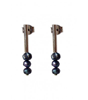 PERLA, STERLING SILVER EARRING. Original Handcrafted Jewel - VOPPERLA02GR - Original Version