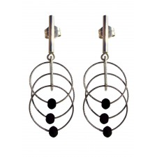 TELAR1-LAVA, STERLING SILVER EARRING. Original Handcrafted Jewel - VOPTELAR1LA01 - Original Version