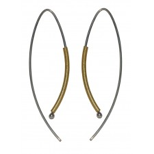 TELAR2 & TUBE, STERLING SILVER EAR WIRE. Original Handcrafted Jewel - VOPTELAR2TB01GP - Original Version