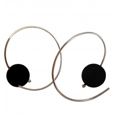 CHOC-LAVA, HOOP EARRING IN STERLING SILVER. Original Handcrafted Jewel - VOPCHOC01LA - Version Original
