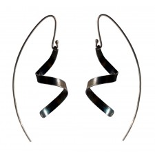 BUCLE, OXIDISED STERLING SILVER EARRING. Original Handcrafted Jewel - VOPBUCLE01 - Original Version
