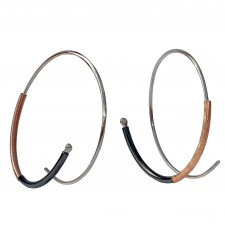 CHOC-TUBO, HOOP EARRING IN STERLING SILVER. Original Handcrafted Jewel - VOPCHOC03RGP - Version Original